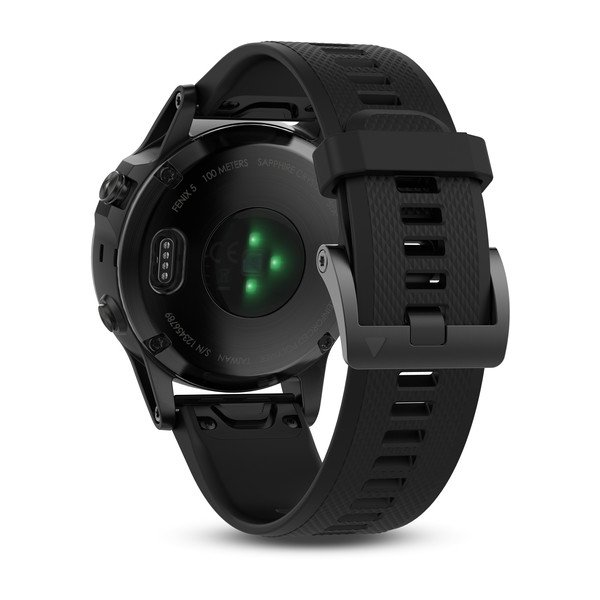 Garmin fenix® 5 Black Sapphire with Black Band, Europe, Australia and New Zealand