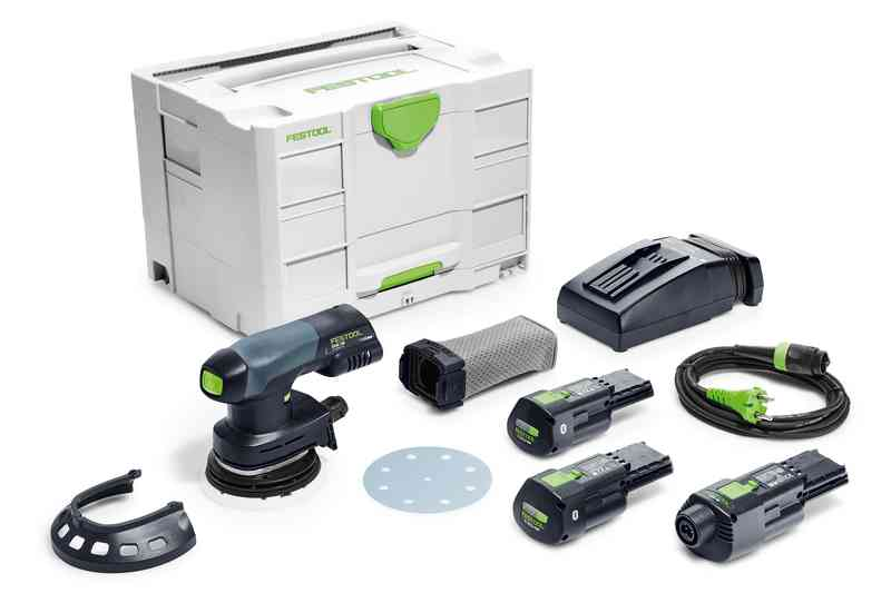 Festool Batterislip Rund Excenter ETSC 125 Li 3,1 I-Set