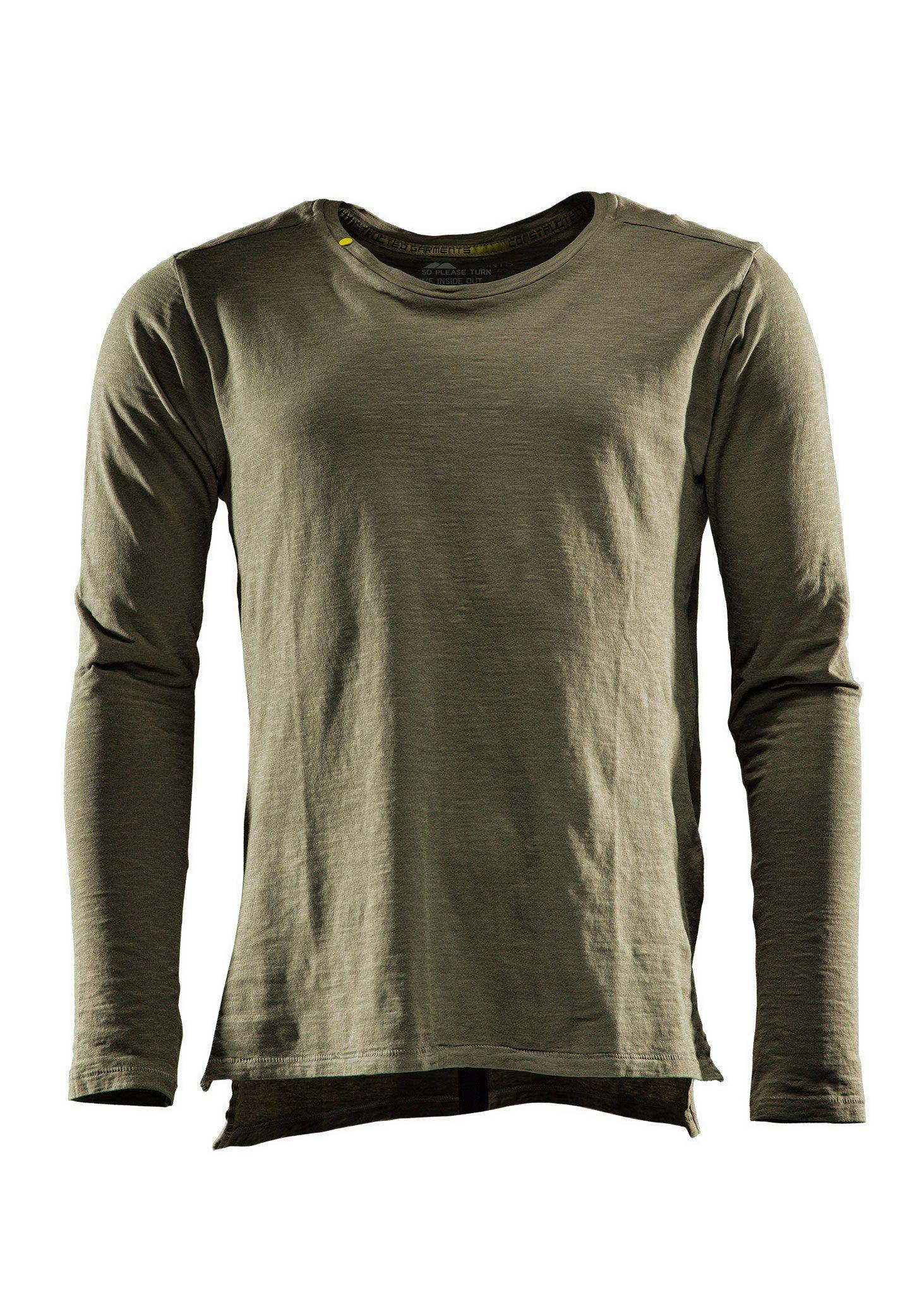 Monitor Comfort tee LS, T-shirt long sleeve, Burnt olive green