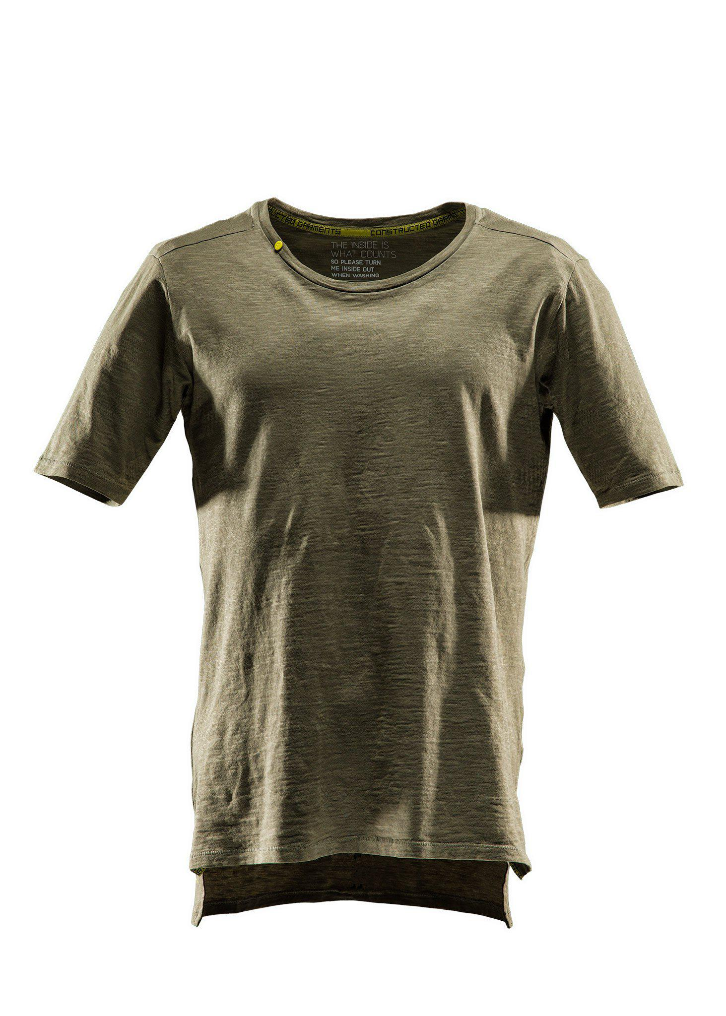 Comfort tee SS, T-shirt short sleeve, Burnt olive green, XS