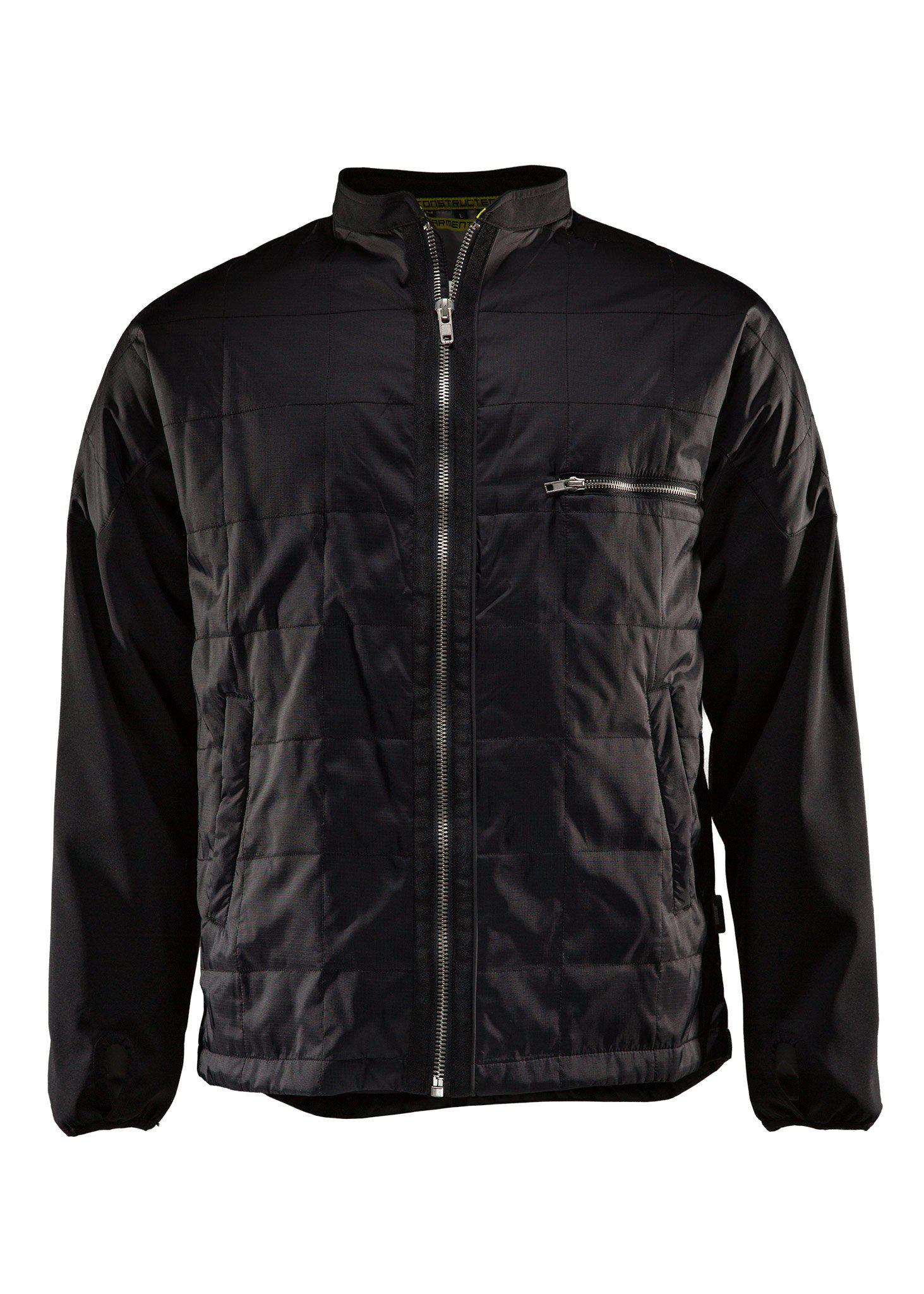 Lightweight jacket, Quilted jacket, Caviar black, M