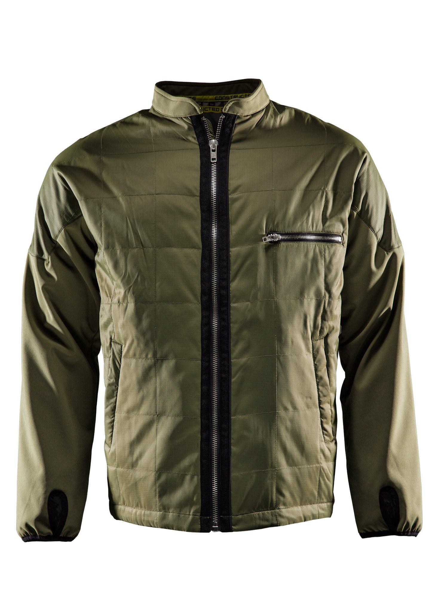 Monitor Lightweight jacket, Quilted jacket, Burnt olive green