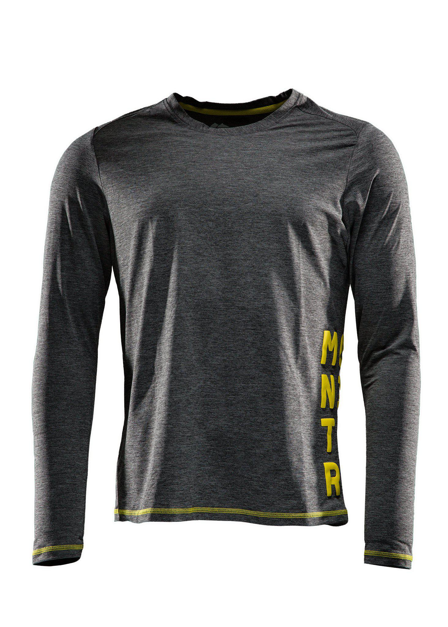 Function tee, Long sleeve, Grey melange, XXL