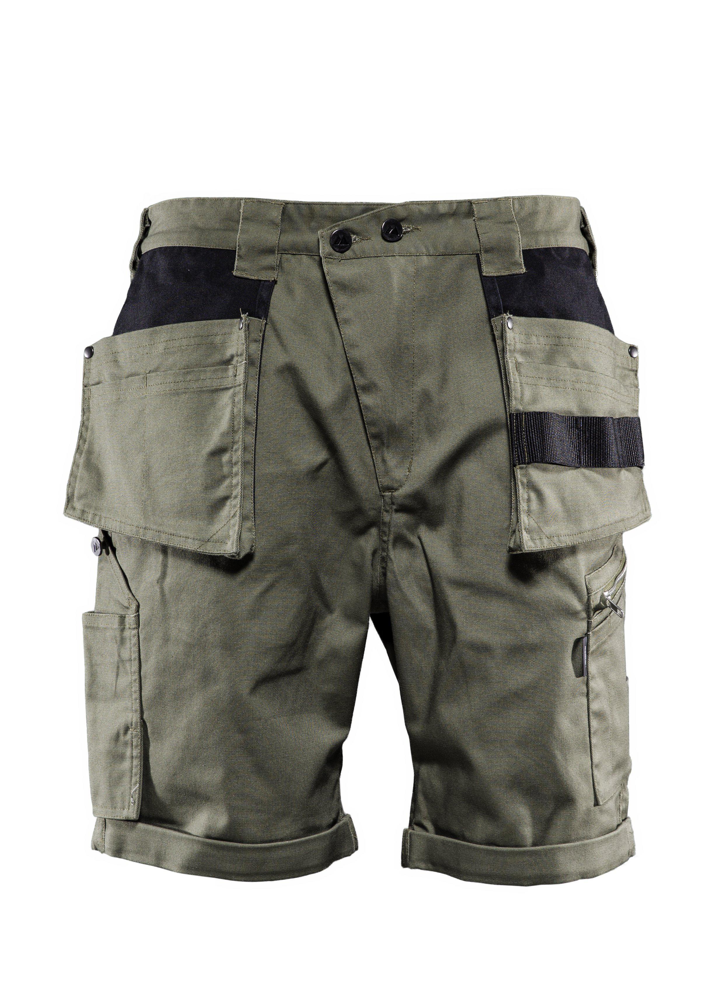 Versatile shorts, Carpenter shorts, Burnt olive green, XS