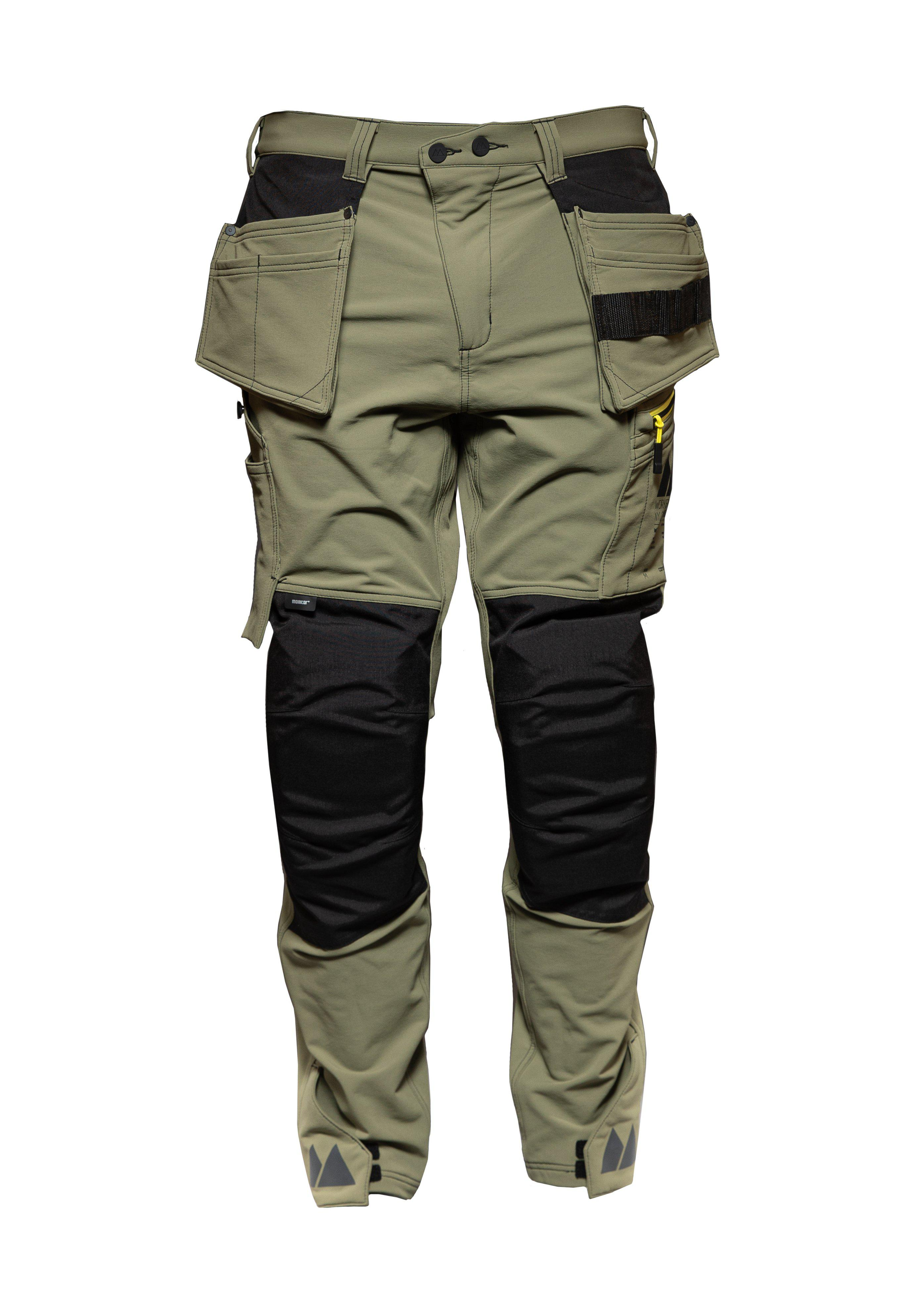 Versatile 4ws pant, Carpenter pant , Burnt olive green, M