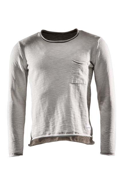 Sweat one, Flat knitted sweater, Lunar rock grey, XS